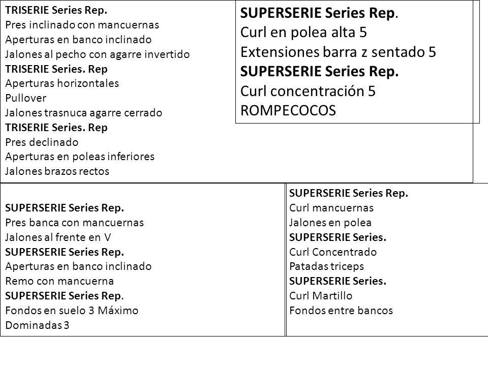 SUPERSERIE Series Rep.Pres militar sentado Encogimientos de hombros SUPERSERIE Series Rep.