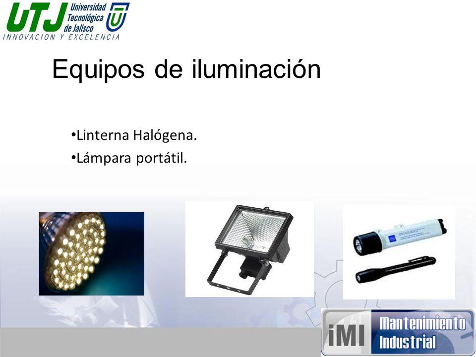 Equipos de iluminación Linterna Halógena. Lámpara portátil.