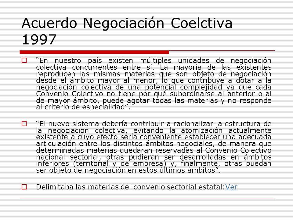 la estructura de la negociacion colectiva: