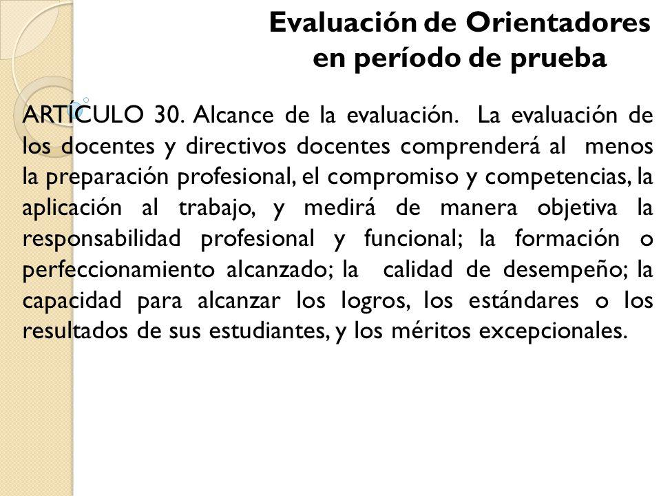formato de evaluacion para docentes en periodo de prueba:
