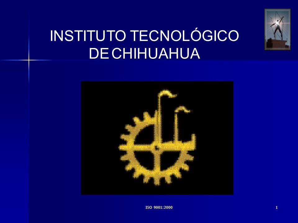 ISO 9001:20002 PROGRAMA DE TRABAJO DE LA COORDINACIÓN DEL SISTEMA DE GESTIÓN DE CALIDAD DEL I.T.CH.