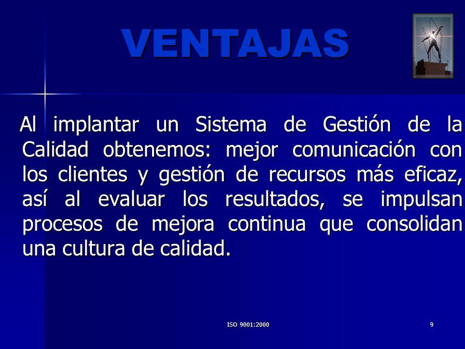 ISO 9001:200020 PROCEDIMIENTOS GENERALES MANUAL DEL SGC PROCEDIMIENTOS ESPECÍFICOS REGISTROS (EVIDENCIA OBJETIVA DE LAS ACTIVIDADES DESEMPEÑADAS) PROGRAMACIÓN (PLANIFICACIÓN DEL PROYECTO)