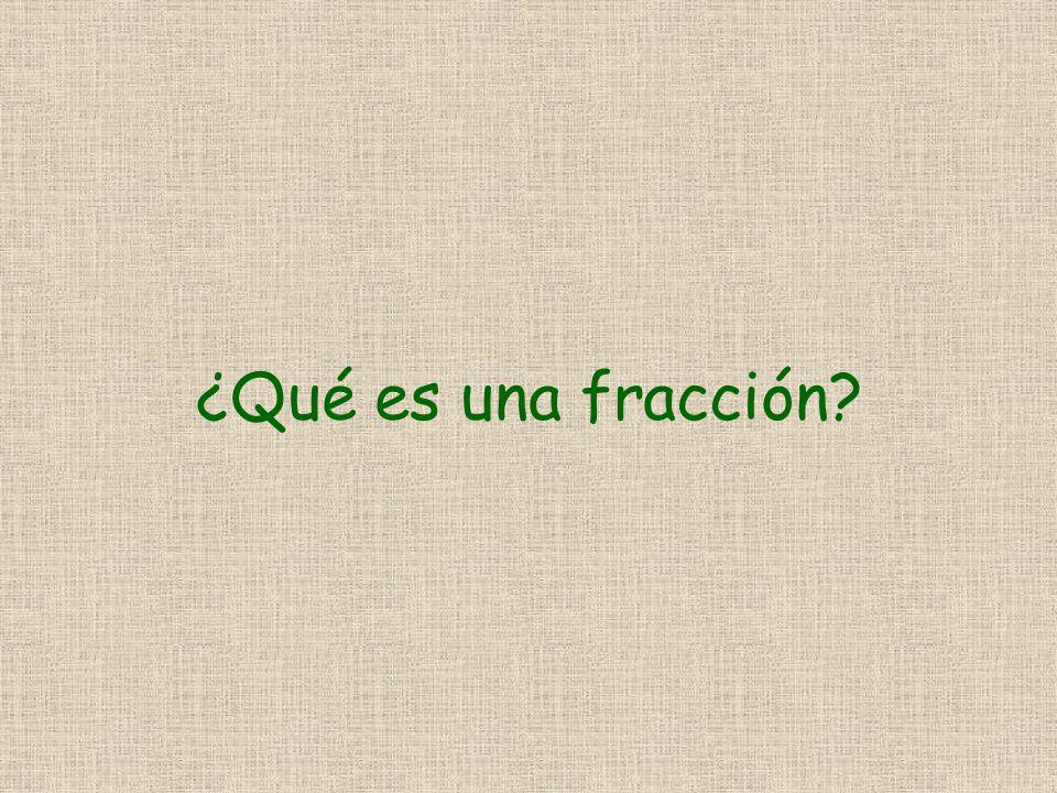 ¿Qué es una fracción?