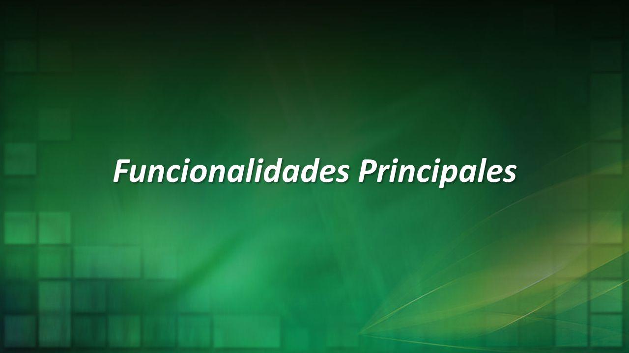 Funcionalidades Principales