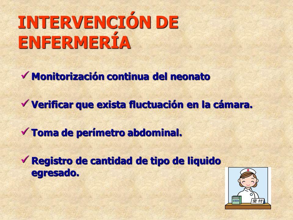 Monitorización continua del neonato Monitorización continua del neonato Verificar que exista fluctuación en la cámara. Verificar que exista fluctuació