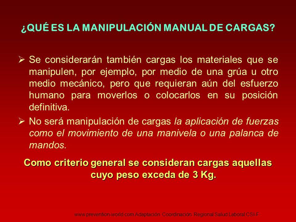 TÉCNICA DE LEVANTAMIENTO DE CARGAS - General 1º.Aproximarse la carga al cuerpo 2º.