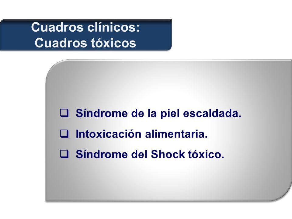 Cuadros clínicos: Cuadros tóxicos  Síndrome de la piel escaldada.