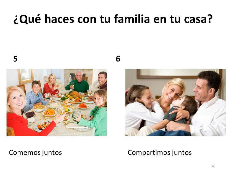 5 ¿Qué haces en tu casa para ayudar?
