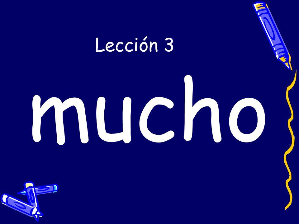 Lección 3 mucho