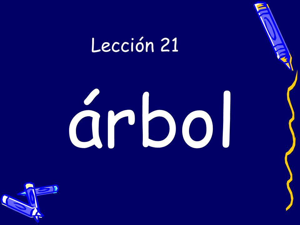Lección 21 árbol