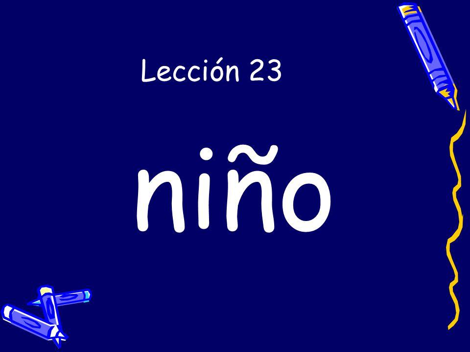 Lección 23 niño