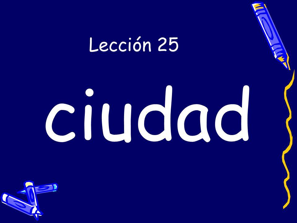 Lección 25 ciudad