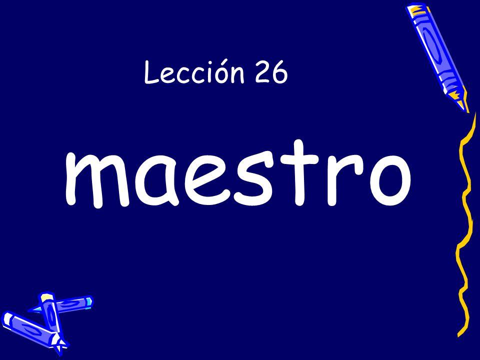 Lección 26 maestro