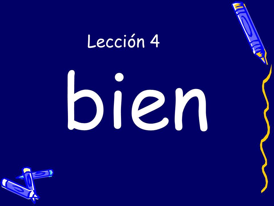 Lección 4 bien
