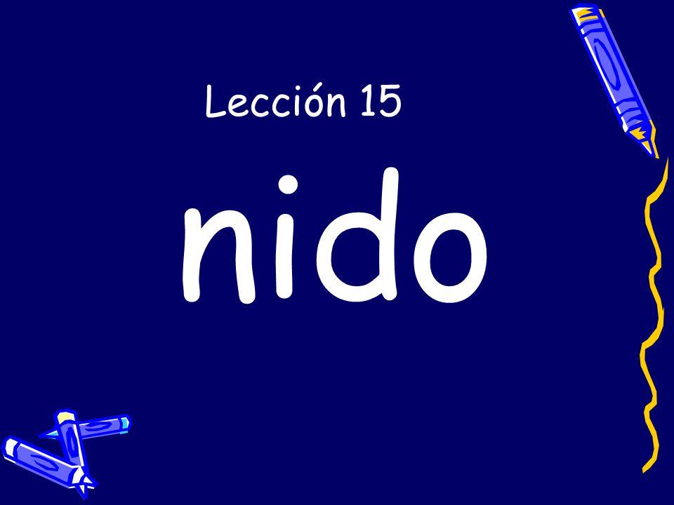 Lección 15 nido