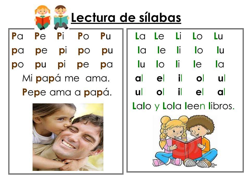 Lect u ra de sílabas S a S e S i S o S u S a s a s e s i s o s u s a s o s u s i s e s a s o a s e s i s o s u s e s us o s i s e s a s as E s e s apo s e a s oma.