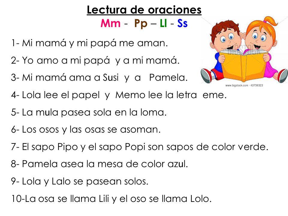 Lect u ra de imagenes Mm – Pp – Ll - Ss Pamela y Eliseo leen.