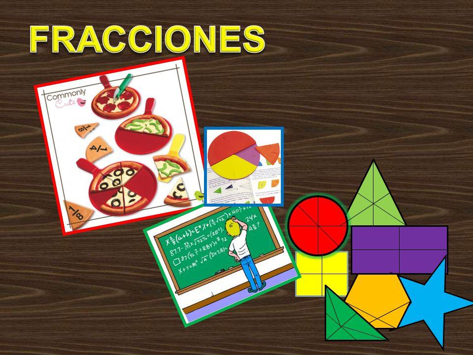 DEFINICION Fracción: La unidad fraccionaria es cada una de las partes que se obtienen al dividir la unidad en n partes iguales.