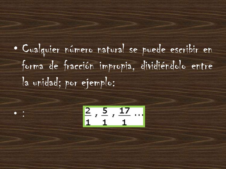 NÚMEROS MIXTOS Si en una fracción impropia dividimos el numerador entre el denominador, puede ocurrir una de estas dos cosas 1.