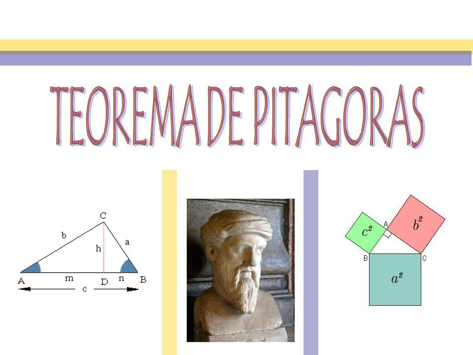 Matemáticas El Teorema de Pitágoras establece que en un triángulo rectángulo, el cuadrado de la hipotenusa es igual a la suma de los cuadrados de los dos catetos.