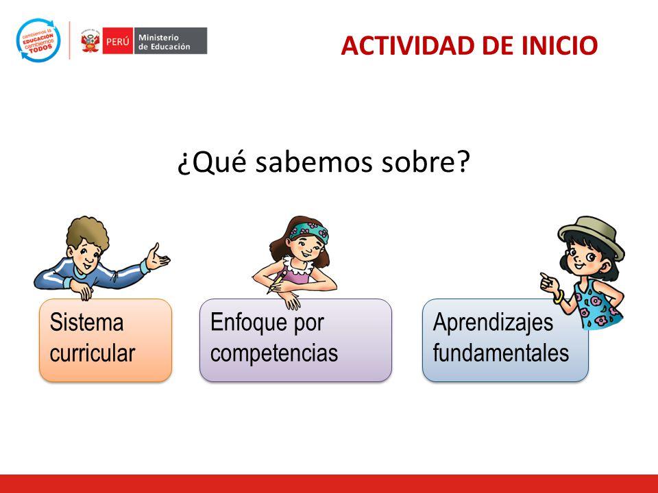 Sistema curricular Aprendizajes fundamentales Enfoque por competencias ¿Qué sabemos sobre.