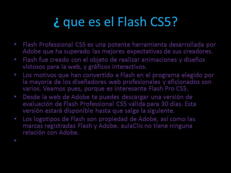 ¿ que es el Flash CS5.