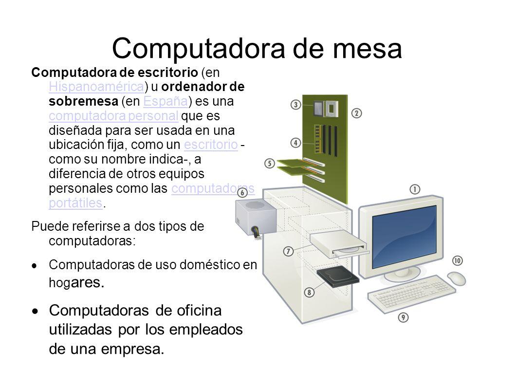de mesa Computadora de escritorio (en Hispanoamérica) u ordenador de  #515C1F 1058x793