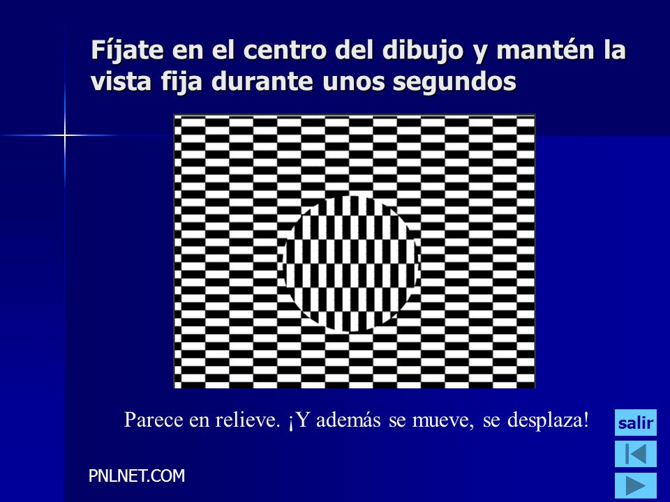 PNLNET.COM Fíjate en el centro del dibujo y mantén la vista fija durante unos segundos Parece en relieve.