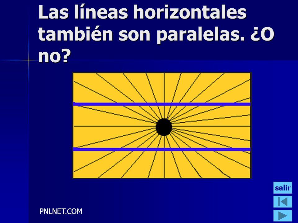 PNLNET.COM Las líneas horizontales también son paralelas. ¿O no? salir