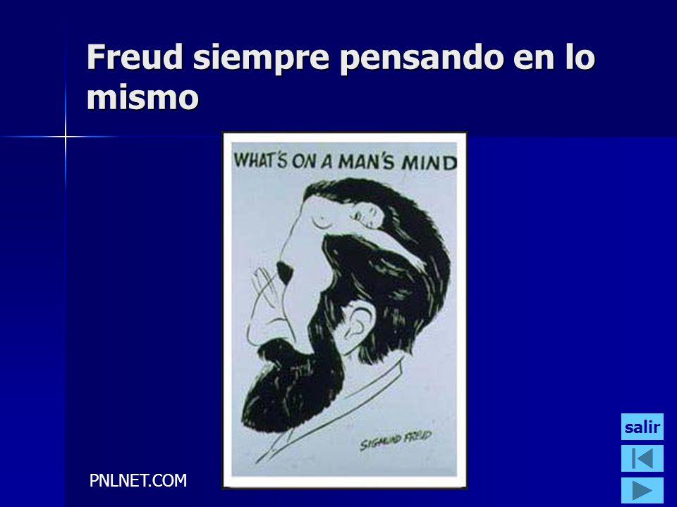 PNLNET.COM Freud siempre pensando en lo mismo salir