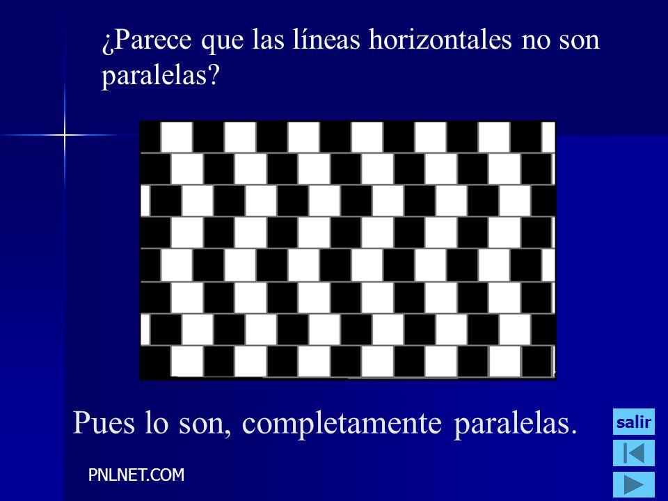 PNLNET.COM ¿Parece que las líneas horizontales no son paralelas? Pues lo son, completamente paralelas. salir