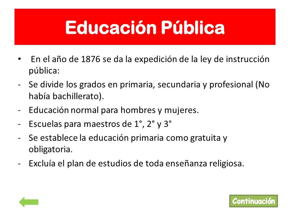 ley de instruccion primaria: