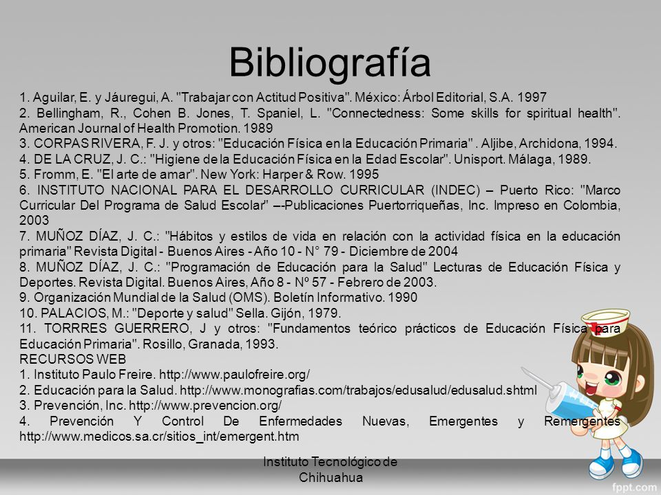 Bibliografía Instituto Tecnológico de Chihuahua 1.