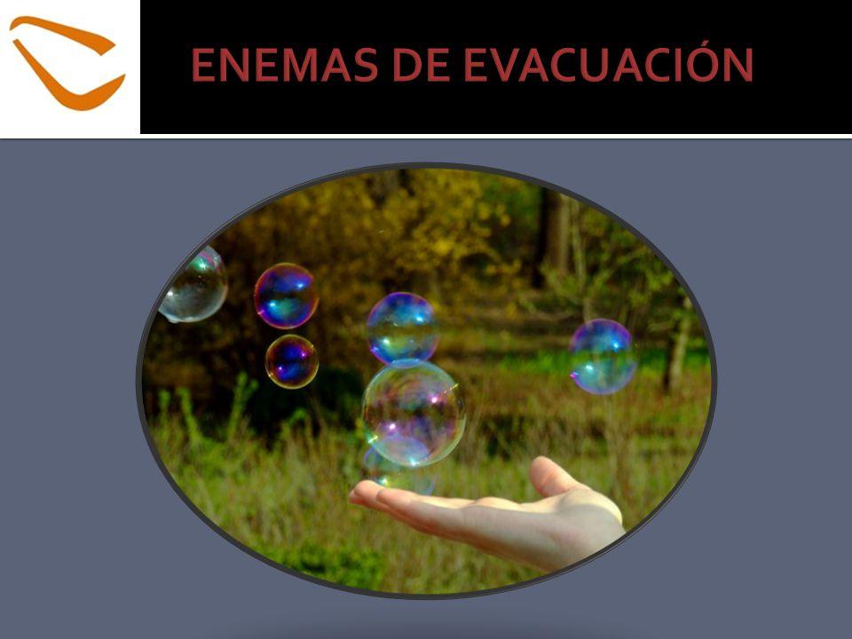 *Enema Carminativo Enema para eliminar la flatulencia (gases en el intestino grueso).