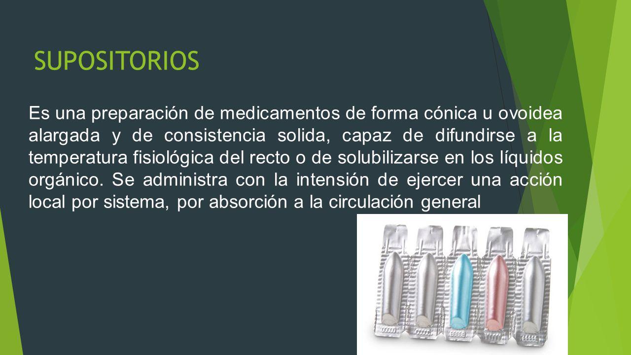 DEFINICION  Conjunto de actividades encaminadas a proporcionar fármacos al paciente para su absorción por la mucosa rectal.