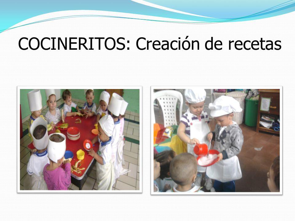 COCINERITOS: Creación de recetas