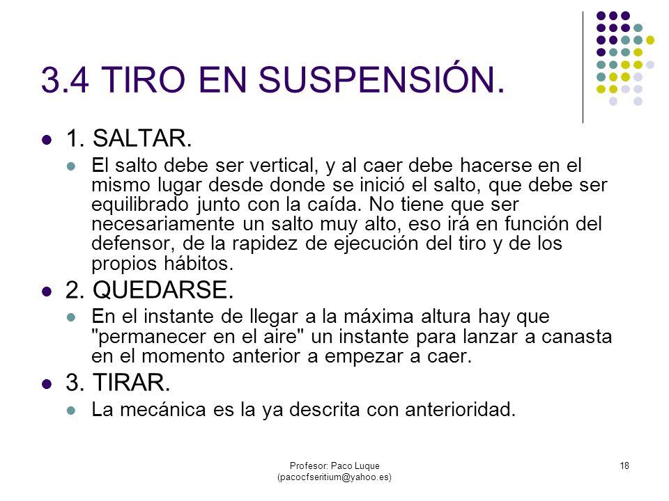 Profesor: Paco Luque (pacocfseritium@yahoo.es) 18 3.4 TIRO EN SUSPENSIÓN.