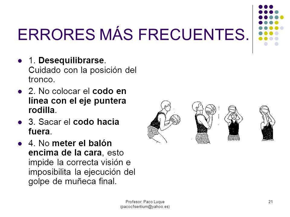 Profesor: Paco Luque (pacocfseritium@yahoo.es) 21 ERRORES MÁS FRECUENTES.