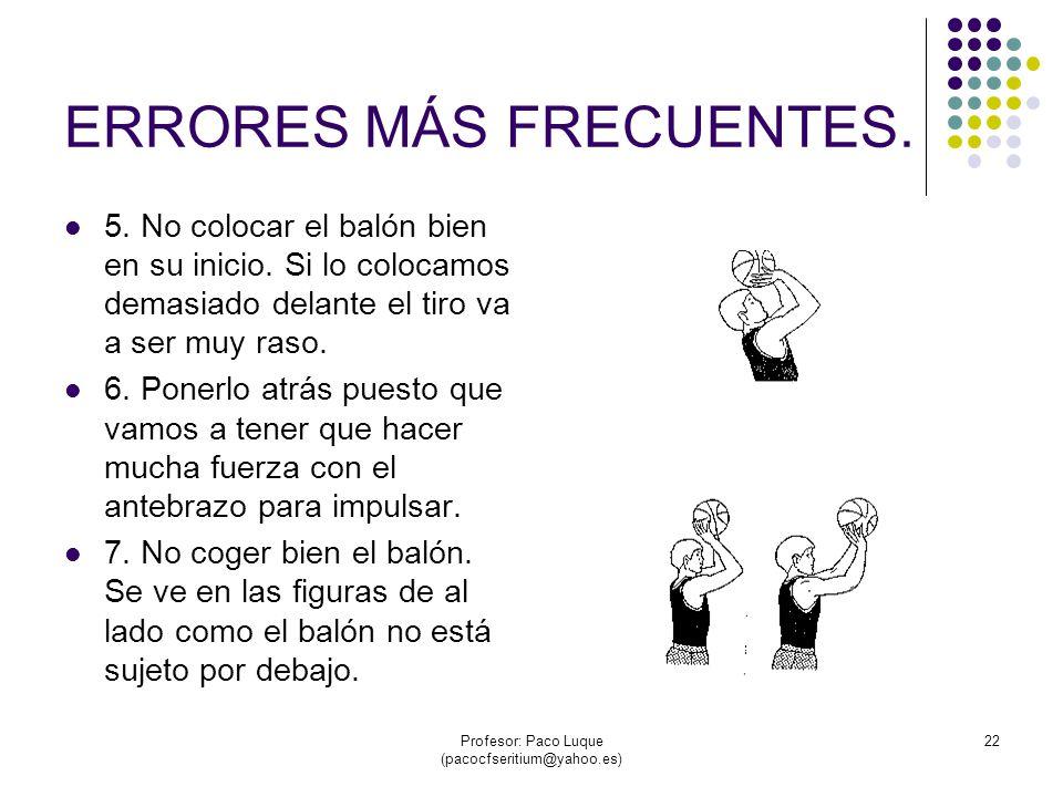 Profesor: Paco Luque (pacocfseritium@yahoo.es) 22 ERRORES MÁS FRECUENTES.