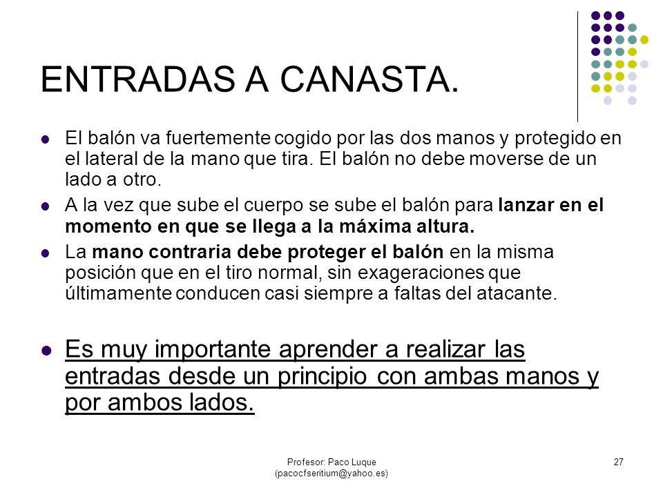 Profesor: Paco Luque (pacocfseritium@yahoo.es) 27 ENTRADAS A CANASTA.