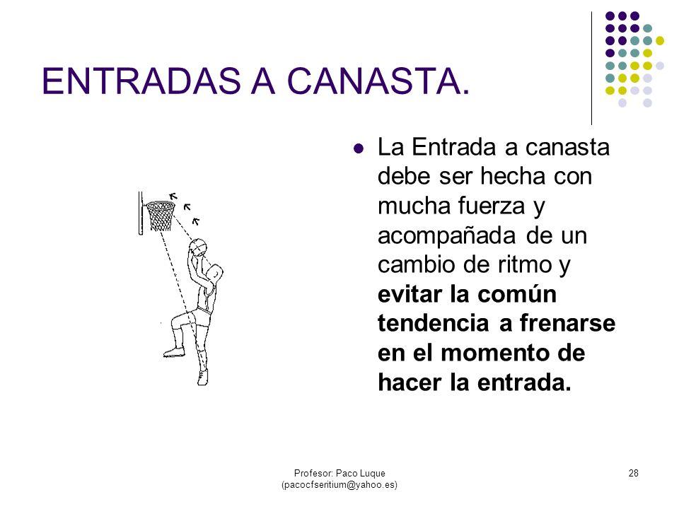 Profesor: Paco Luque (pacocfseritium@yahoo.es) 28 ENTRADAS A CANASTA.