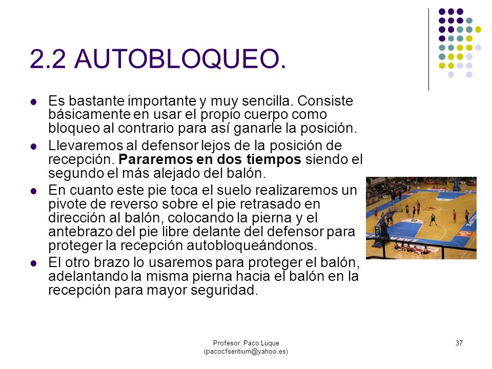 Profesor: Paco Luque (pacocfseritium@yahoo.es) 37 2.2 AUTOBLOQUEO.
