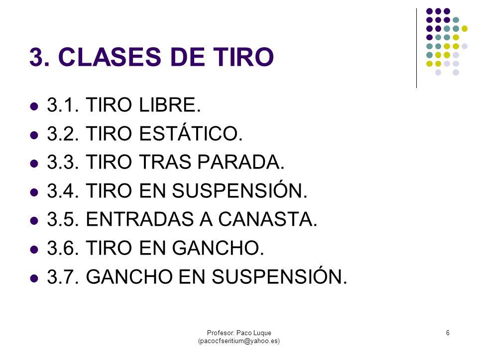 Profesor: Paco Luque (pacocfseritium@yahoo.es) 7 3.1 TIRO LIBRE.