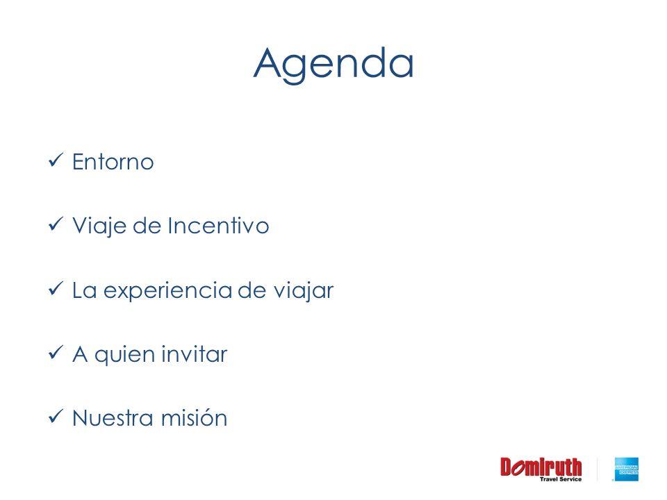 Agenda Entorno Viaje de Incentivo La experiencia de viajar A quien invitar Nuestra misión