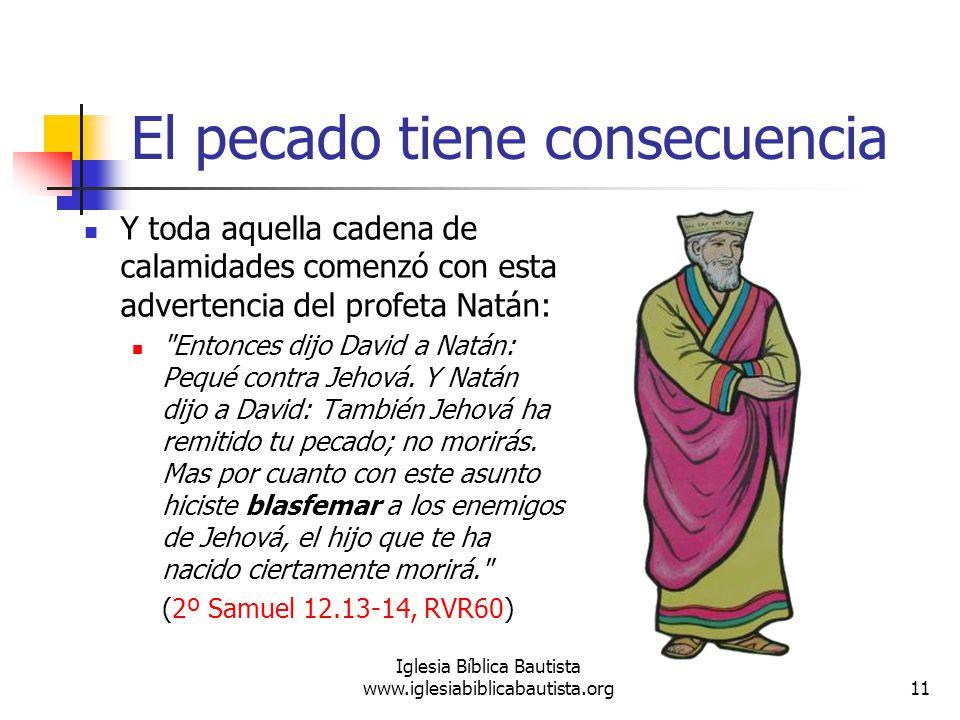 Consecuencia Del Pecado el Pecado Tiene Consecuencia y