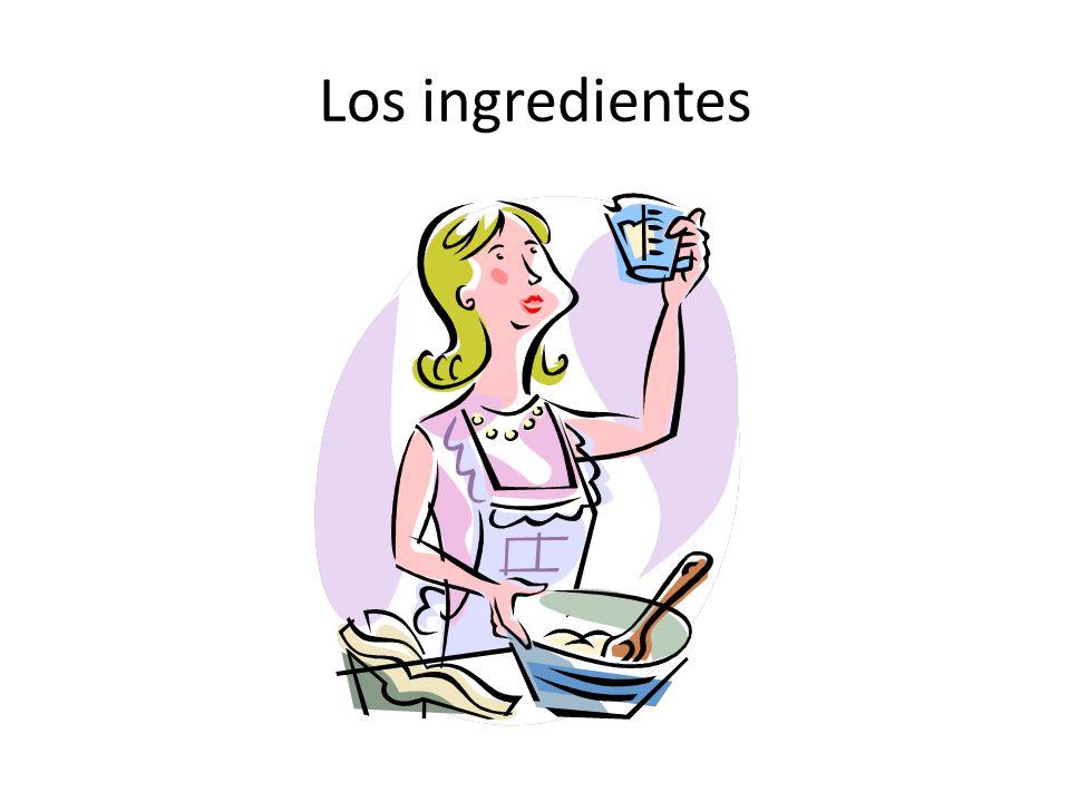 Los ingredientes