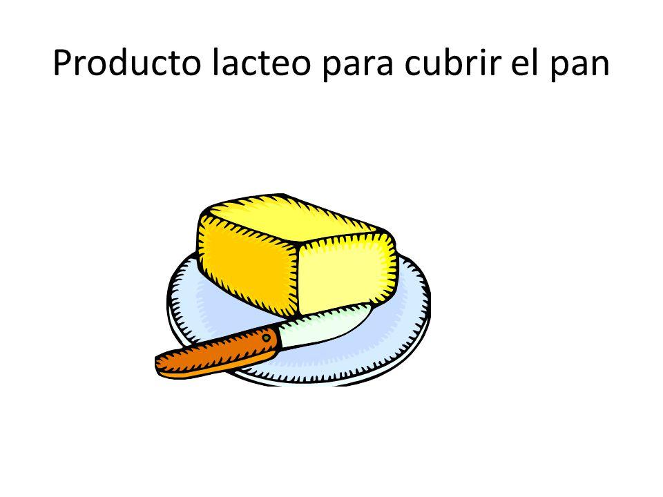 Producto lacteo para cubrir el pan