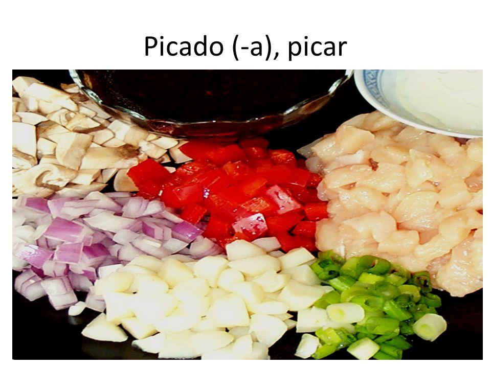 Picado (-a), picar
