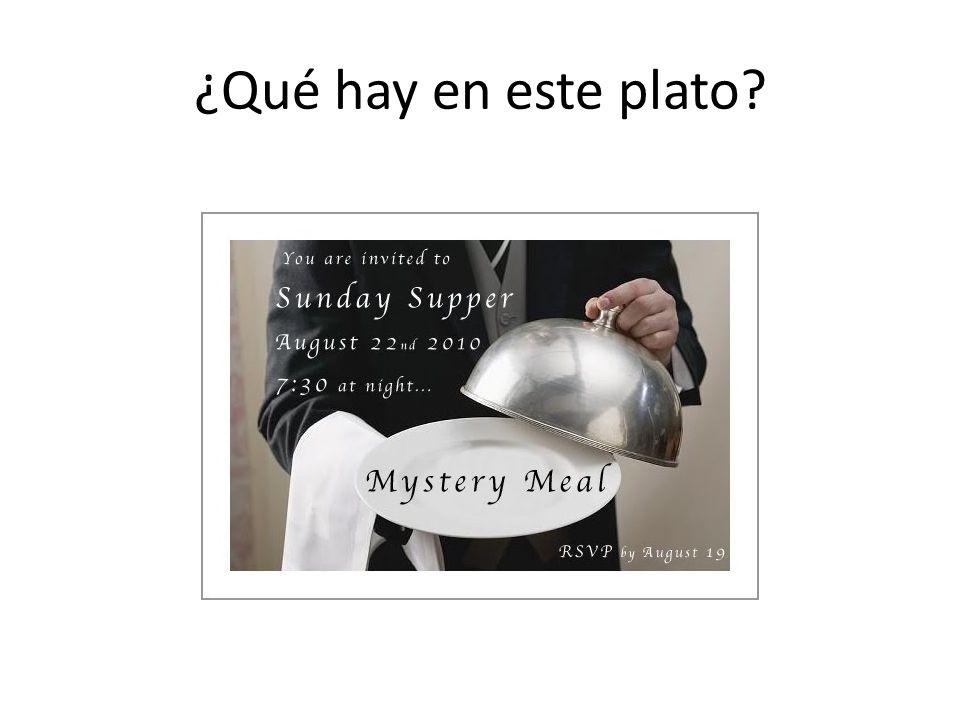 ¿Qué hay en este plato?