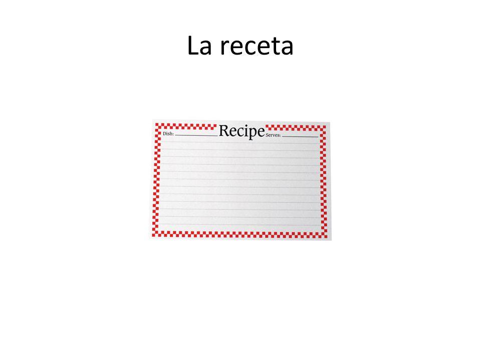 La receta